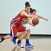 Centaurus' Audrey Harriger and Broomfield's Stacie Hull scramble after a loose ball during Tuesday's game at Broomfield.<br /> February 19, 2013<br /> staff photo/ David R. Jennings