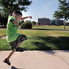 Jadon Garcia, 5, jumps during the Walk4Kid's Health around the Community Park pond at Saturday's 2011 Children's Wellness Adventure.<br /> August 27, 2011<br /> staff photo/ David R. Jennings