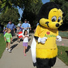 The Applebee's Bee lead the Walk4Kids' Health walk during  Saturday's 2011 Children's Wellness Adventure at Community Park.<br /> August 27, 2011<br /> staff photo/ David R. Jennings