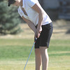 Skyline's Danielle Mercore makes a putt on the 11th hole at the Chilly/Chili Invite golf tournament hosted by Broomfield High School at the Eagle Trace golf Course on Saturday.<br /> March 17,  2012 <br /> staff photo/ David R. Jennings