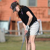 Fairview's Megan Mccambridge putts on the 10th at the Chilly/Chili Invite golf tournament hosted by Broomfield High School at the Eagle Trace golf Course on Saturday.<br /> March 17,  2012 <br /> staff photo/ David R. Jennings