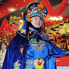 Magician Peng Li, a master of the Chinese art of face mask changing, BianLian, reveals his face during his perfomance for the Chinese New Year celebration at United Chinese Restaurant on Sunday. February 3rd is the beginning of the Chinese New Year, the year of the rabbit.<br /> <br /> January 30, 2011<br /> staff photo/David R. Jennings