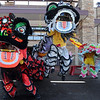The Lions of Tai Kung Ha Holistic Fitness Center demonstrate their abilities as they jump over each other while performing the Lion Dance in celebration of the Chinese New Year, the year of the Tiger, at Pacific Ocean Marketplace in Broomfield on Sunday.<br /> <br /> February 14, 2010<br /> Staff photo/David R. Jennings