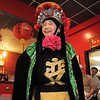 New York Chinese magician Naiyi Zhao reveals his face while performing the Bian Lain or face changing for the Chinese New Year celebration at United Chinese Restaurant on Monday. Zhao went through 14 face changes before revealing his face to the audience.<br /> January 23, 2012<br /> staff photo/ David R. Jennings