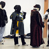 Fencers wait in line for instructions at the Society for Creative Anachronism meeting of the Barony of Caer Galen for Boulder and Broomfield counties at the Boulder County Fairgrounds in Longmont on Tuesday.<br /> <br /> <br /> January 12, 2010<br /> Staff photo/David R. Jennings