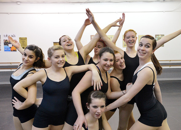 Dance Arts students perform various movements together during the choreography class at Dance Arts Studio on Saturday. The dancers are from left, Angela Davies, 16, Emily Westbrook, 15, Hannah Price, 17, Kalia Thomas, 15, center top, Aliyah Price, 15, center, Hailey Mohler, 17, center bottom, Sarah Fanning, 16, Corrynn Johnson, 16 and Gabby Green, 17.<br /> January 26, 2013<br /> staff photo/ David R. Jennings