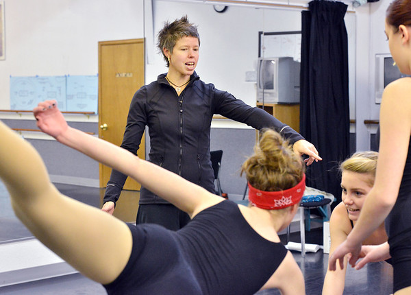 Instructor Kaila June Gidley gives pointers to dancers during the choreography class at Dance Arts Studio on Saturday.<br /> January 26, 2013<br /> staff photo/ David R. Jennings