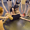 Dancers help Kalia Thomas, 15, to lay down on the floor during the choreography class at Dance Arts Studio on Saturday.<br /> January 26, 2013<br /> staff photo/ David R. Jennings