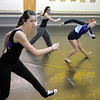 Hailey Mohler, 17, front, works with Gabby Green, center, and Sarah Fanning on her dance during the choreography class at Dance Arts Studio on Saturday.<br /> January 26, 2013<br /> staff photo/ David R. Jennings