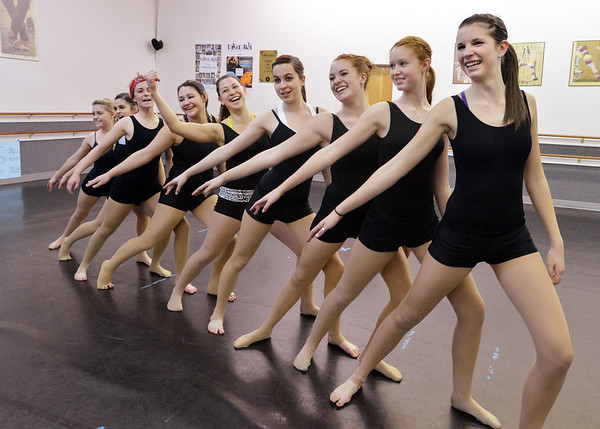 Choreography class members perform movements together at Dance Arts Studio on Saturday.<br /> January 26, 2013<br /> staff photo/ David R. Jennings