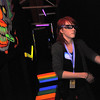 Northglenn High student Kelsey Nelson tries to find her way through part of the maze while wearing 3D glasses, at the Circus of Fear 3D Haunted Fun House at FatCats  in Westminster on Thursday.<br /> <br /> September 29, 2011<br /> staff photo/ David R. Jennings