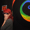 Northglenn High student Kelsey Nelson, wearing 3D glasses, pauses while finding her  way through part of the maze of the Circus of Fear 3D Haunted Fun House at FatCats  in Westminster on Thursday.<br /> <br /> September 29, 2011<br /> staff photo/ David R. Jennings