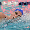 Broomfield's Kate Peterson swimming in the 200 yard freestyle during the Colorado Coaches Association Invitational at the Veterans Memorial Aquatic Center in Thornton on Saturday.<br /> December 14, 2012<br /> staff photo/ David R. Jennings