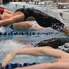 Fairview's Julia Box launches off the blocks to swim the backstroke in the 200 yard medley relay during the Colorado Coaches Association Invitational at the Veterans Memorial Aquatic Center in Thornton on Saturday.<br /> December 14, 2012<br /> staff photo/ David R. Jennings