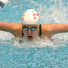 Fairview's Julia Box swimming the 100 yard butterfly during the Colorado Coaches Association Invitational at the Veterans Memorial Aquatic Center in Thornton on Saturday.<br /> December 14, 2012<br /> staff photo/ David R. Jennings