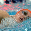 Fairview's Adee Weller swimming in the 500 yard freestyle during the Colorado Coaches Association Invitational at the Veterans Memorial Aquatic Center in Thornton on Saturday.<br /> December 14, 2012<br /> staff photo/ David R. Jennings