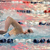 Fairview's Abigail Houck swimming in the 200 yard freestyle during the Colorado Coaches Association Invitational at the Veterans Memorial Aquatic Center in Thornton on Saturday.<br /> December 14, 2012<br /> staff photo/ David R. Jennings