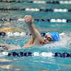 Broomfield's Martin Wallace swims in the 500 yard freestyle finals at the Dick Rush Coach's Invitational Swim Meet at the Veterans Memorial Aquatic Center in Thornton on Saturday.<br /> March 31, 2012 <br /> staff photo/ David R. Jennings
