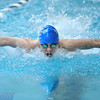 Broomfield's Kris Kerr swims in the 100 yard butterfly event at the Dick Rush Coach's Invitational Swim Meet at the Veterans Memorial Aquatic Center in Thornton on Saturday.<br /> March 31, 2012 <br /> staff photo/ David R. Jennings