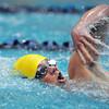 Legacy's Zachery Nix  swims his leg in 400 yard relay during the Dick Rush Coach's Invitational Swim Meet at the Veterans Memorial Aquatic Center in Thornton on Saturday.<br /> March 31, 2012 <br /> staff photo/ David R. Jennings