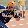"Madison Dolan, Indiana Magic Gold, runs to firstbase after making a hit against the Orange County Batbusters  during the championship game for the 2012 Colorado Freedom Girl's Softball Invitational at Community Park on Friday.<br /> <br /> July 4, 2012<br /> staff photo/ David R. Jennings<br /> <br /> More photos and video please go to <br />  <a href=""http://www.broomfieldenterprise.com"">http://www.broomfieldenterprise.com</a>"