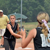 "Orange County Batbusters pitcher Celeste Wood throws to first baseman Taylor Rowland after an Indiana Magic Gold hit during the championship game for the 2012 Colorado Freedom Girl's Softball Invitational at Community Park on Friday.<br /> <br /> July 4, 2012<br /> staff photo/ David R. Jennings<br /> <br /> More photos and video please go to <br />  <a href=""http://www.broomfieldenterprise.com"">http://www.broomfieldenterprise.com</a>"