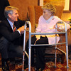 Senator Mark Udall, left, chats with Josephine Kater Robinson, 92, a WWII WASP, Women Airforce Service Pilots, before giving Robinson  her Congressional Gold Medal before the ceremony at The Stratford at the Flatirons on Saturday.<br /> May 22, 2010<br /> Staff photo/ David R. Jennings