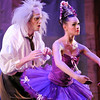 Sean Watson, left, Dr. Coppelius, BNC professional Company,  performs with Kaitlan Smallwood, Swanilda,  during School of Ballet Nouveau Colorado's Student Company's performance of Coppelia Thursday at the Audi.<br /> May 13, 2010<br /> Staff photo/ David R. Jennings