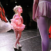 Evelyn Peterson, 4, talks to student company ballerinas after the School of Ballet Nouveau Colorado's Student Company's production of Coppelia on Thursday at the Audi.<br /> May 13, 2010<br /> Staff photo/ David R. Jennings