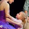 Fiona Thomas, 4,  talks to the student ballerina Kaitlan Smallwood on stage after the School of Ballet Nouveau Colorado's Student Company's performance of Coppelia at the Audi.<br /> May 13, 2010<br /> Staff photo/ David R. Jennings