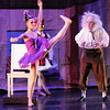 Kaitlan Smallwood, Swanilda the puppet, begins to come to life as  Sean Watson,  Dr. Coppelius, (BNC professional Company) watches during the School of Ballet Nouveau Colorado's Student Company's performance of Coppelia Thursday at the Audi.<br /> May 13, 2010<br /> Staff photo/ David R. Jennings