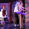 Kaitlan Smallwood, right, Swanilda the puppet,  begins to wake up as  Sean Watson,  Dr. Coppelius, (BNC professional Company) watches during the School of Ballet Nouveau Colorado's Student Company's performance of Coppelia Thursday at the Audi.<br /> May 13, 2010<br /> Staff photo/ David R. Jennings