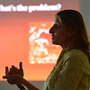 Mary Ann Bonnell, City of Aurora naturalist, explains coyote behaviors during her coyote observer training course as a part of the Denver Metro Area Coyote Behavior Study at the Broomfield Community Center on Thursday.<br /> June21, 2012<br /> staff photo/ David R. Jennings