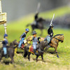 Civil War figures of Union officers on horse back soldiers on the Broomfield Veterans Memorial Museum diorama depicting Pickett's Charge at the Battle of Gettysburg at Fine Art Mannequins studio on Wednesday.<br /> July 6 2011<br /> staff photo/ David R. Jennings
