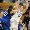 Legacy's Emily Glen grabs the ball against Broomfield's Brianna Wilber during Saturday's cross town game at Legacy.<br /> January 7, 2012<br /> staff photo/ David R. Jennings