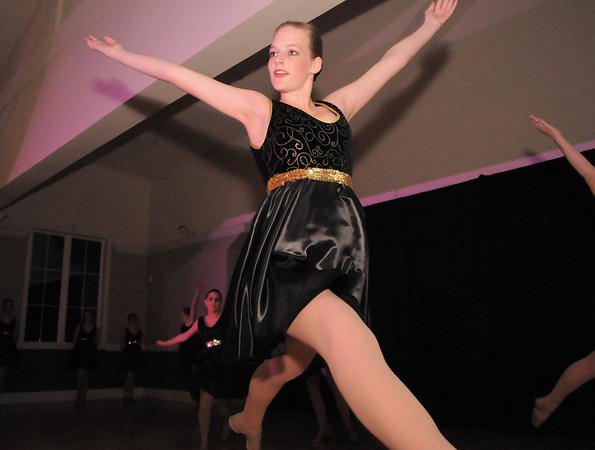 Katie Bernatis dances with Fusion, a dance troupe with Dance Arts Studio, during Friday's gala celebrating 50 years of dance with Dance Arts Studio at the Chateau at Fox Meadows. <br /> November 12, 2010<br /> staff photo/David R. Jennings