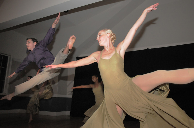 Cory Klements, left, and Stephanie McGill, Dance Arts alumni perform during Friday's gala celebrating 50 years of dance with Dance Arts Studio at the Chateau at Fox Meadows. McGill also teaches dance at the studio.<br /> November 12, 2010<br /> staff photo/David R. Jennings