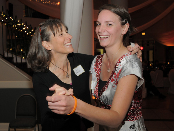 Jan Ziegler dances with her daughter Anna Ziegler during Friday's gala celebrating 50 years of dance with Dance Arts Studio at the Chateau at Fox Meadows. <br /> November 12, 2010<br /> staff photo/David R. Jennings
