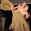 Mindy Haney, left, and Stephanie McGill, alumni of Dance Arts Studio, perform a dance on honor of the founder Jane Spain during Friday's gala celebrating 50 years of dance with Dance Arts Studio at the Chateau at Fox Meadows. <br /> November 12, 2010<br /> staff photo/David R. Jennings
