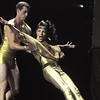 Heather Drake and Colin Eckhoff (Ballet Nouveau Colorado) perform a jazz and disco fusion dance at Dancing With The Broomfield Stars at the 1stBank Center on Wednesday.<br /> September 22, 2011<br /> staff photo/ David R. Jennings