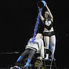 Carlee Taga (Taps 'N Toes Dance Studio) dumps confetti on John Long during their winning dance at Dancing With The Broomfield Stars at the 1stBank Center on Wednesday.<br /> September 22, 2011<br /> staff photo/ David R. Jennings