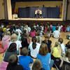 Students watch the Children's Dance Theater's performance of Dancing With Dr. Seuss at Kohl Elementary School on Wednesday.<br /> September 14, 2011<br /> staff photo/ David R. Jennings
