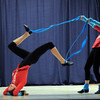 "Gabby Green, 15, left, and Emily Westbrook, 14, dance to the book ""Fox In Socks"" during Wednesday's Children's Dance Theater performance of Dancing With Dr. Seuss at Kohl Elementary School.<br /> September 14, 2011<br /> staff photo/ David R. Jennings"
