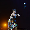 Tracy Owen throws a shoe during her dance with Chris Meis of Ascential Dance at the 3rd Annual Dancing with the Broomfield Stars at the 1stBank Center on Thursday. <br /> September 20, 2012<br /> staff photo/ David R. Jennings