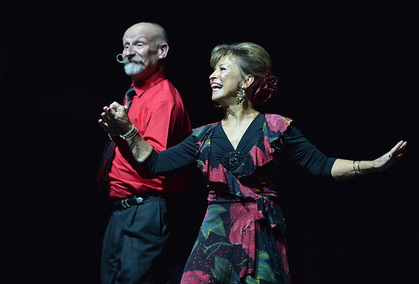 Ladonna Scheel dances the Rumba-Cha Cha with Gerry Stephenson with Reverence Academy of Dance at the 3rd Annual Dancing with the Broomfield Stars at the 1stBank Center on Thursday. Dancing with the Broomfield Stars is a fundraiser for the Broomfield Community Foundation.<br /> September 20, 2012<br /> staff photo/ David R. Jennings