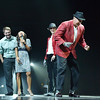 Mike Croell, right demonstrates his moon walk after dancing with Stephanie McGill with Dance Arts Studio,  at the 3rd Annual Dancing with the Broomfield Stars at the 1stBank Center on Thursday. <br /> September 20, 2012<br /> staff photo/ David R. Jennings