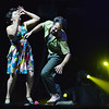 Tracy Owen dances with Chris Meis of Ascential Dance performing a modern dance theater at the 3rd Annual Dancing with the Broomfield Stars at the 1stBank Center on Thursday. <br /> September 20, 2012<br /> staff photo/ David R. Jennings