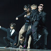Brandon Smith and Carlee Taga with Taps N Toes,  dance to the theme of Men in Black along with  boys  from the studio and friends at the 3rd Annual Dancing with the Broomfield Stars at the 1stBank Center on Thursday. <br /> September 20, 2012<br /> staff photo/ David R. Jennings