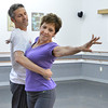 Dancing with the Broomfield Stars star, Linda Erley dances with Up With People instructor Ken Leistduring a rehearsal at Dance Arts Studio.<br />  August 17, 2012<br /> staff photo/ David R. Jennings