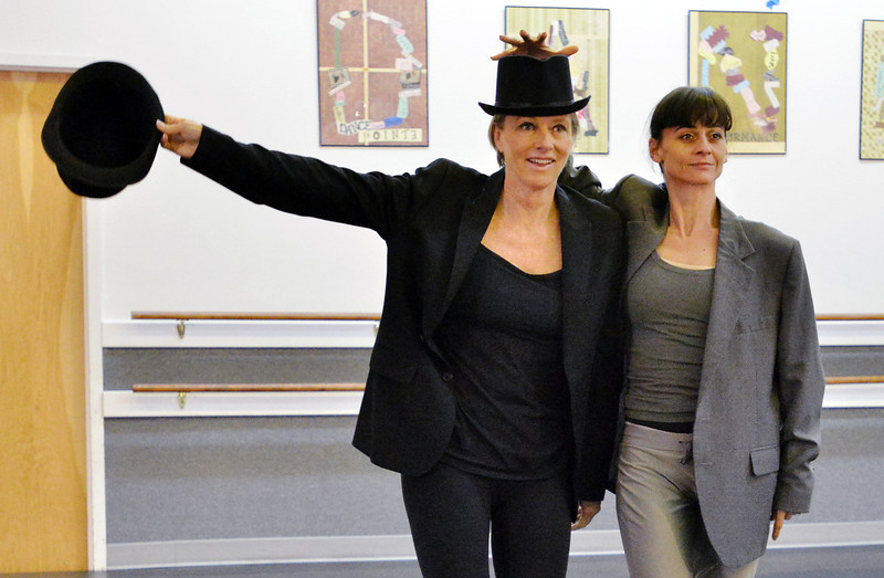 Dancing with the Broomfield Stars star, Penny TerHar, left, dances with Ballet Nouveau Colorado associate artistic director Dawn Fay during a rehearsal at Dance Arts Studio.<br />  August 17, 2012<br /> staff photo/ David R. Jennings